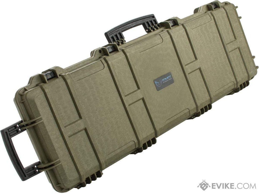"EMG Transporter Lockable 42"" Hard Case w/ low-profile wheels & PnP foam (Color: Military Green) - Eminent Paintball And Airsoft"