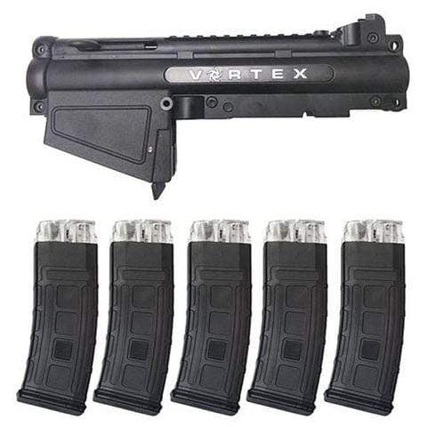 TACAMO VORTEX MAGFED CONVERSION KIT (5 MAGAZINES) TIPPMANN A5 - Eminent Paintball And Airsoft