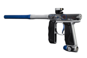 EMPIRE MINI GS PAINTBALL GUN LE NO SOUL- DUST SILVER/BLUE - Eminent Paintball And Airsoft