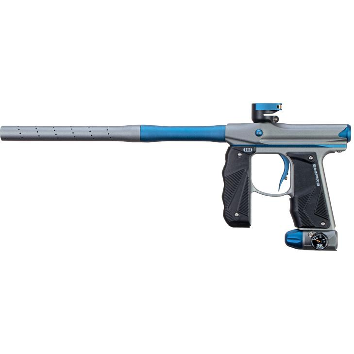 EMPIRE MINI GS PAINTBALL GUN W/ TWO PIECE BARREL- DUST GREY/NAVY BLUE - Eminent Paintball And Airsoft