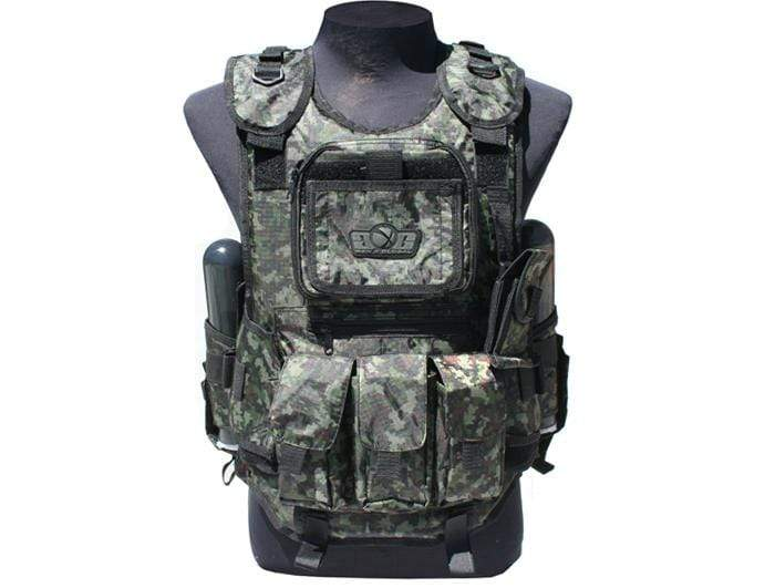 GXG -  DELUXE TACTICAL VEST (DIGI GREEN) - Eminent Paintball And Airsoft