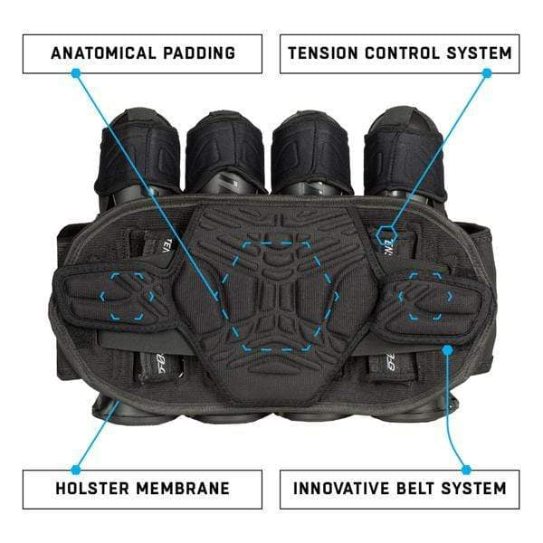Zero G 2.0 Harness - Black/Grey - 4+3+4 - Eminent Paintball And Airsoft