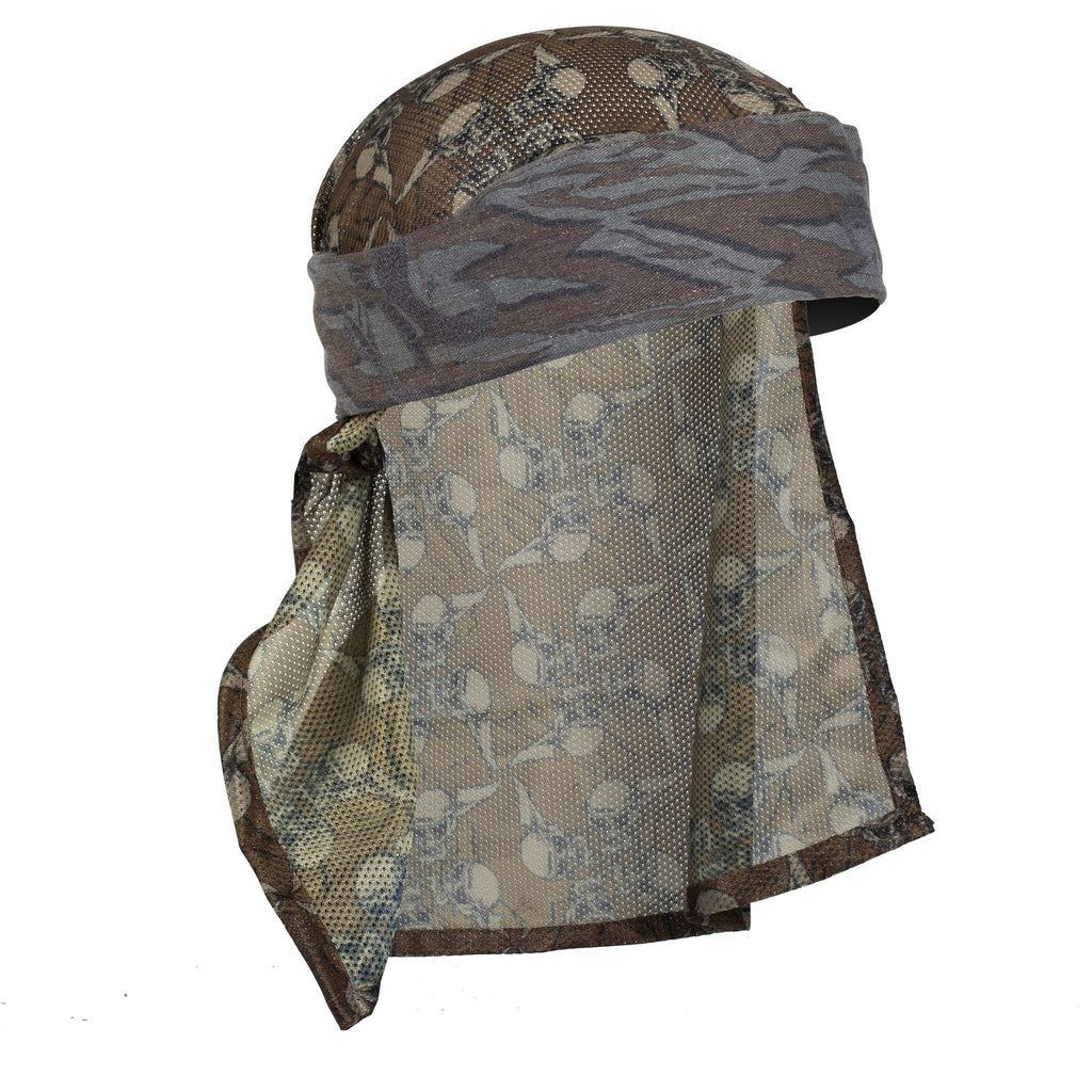 Snakes - Hostilewear Headwrap - Forest Snakes / Tan Skull Mesh - Eminent Paintball And Airsoft