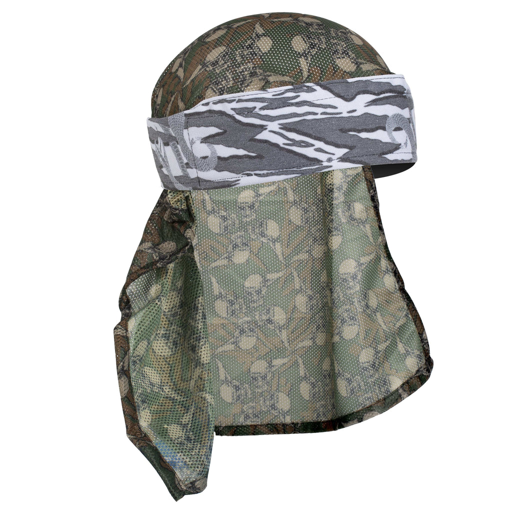 Snakes - Hostilewear Headwrap - Gray Snakes / Forest Skull Mesh - Eminent Paintball And Airsoft