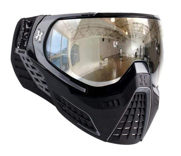 KLR Goggle Platinum (Black/Grey - Chrome Lens) - Eminent Paintball And Airsoft
