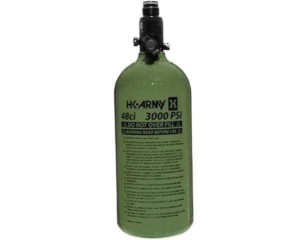HK 48ci / 3000psi Aluminum Compressed Air Tank - Olive - Eminent Paintball And Airsoft