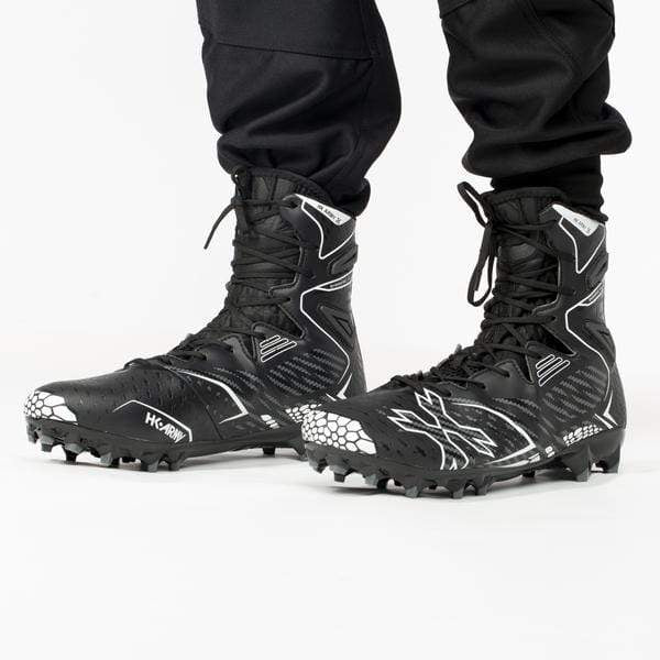Diggerz_X1 Hightop Cleats - Black/Grey - Eminent Paintball And Airsoft