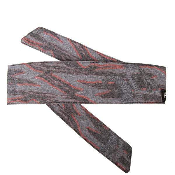 Snakes - Hostilewear Headband - Gray/Red - Eminent Paintball And Airsoft