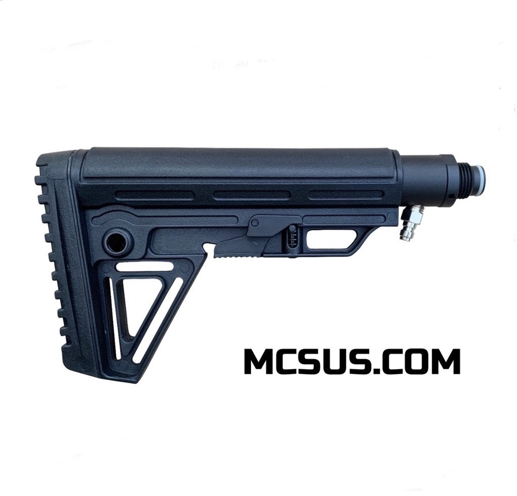 MCS Solid Remote Line Adapter & Alpha Buttstock Kit - Eminent Paintball And Airsoft
