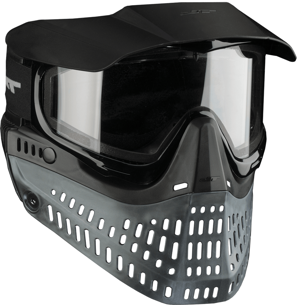 JT PROFLEX THERMAL PAINTBALL MASK - BLACK/BLACK - Eminent Paintball And Airsoft