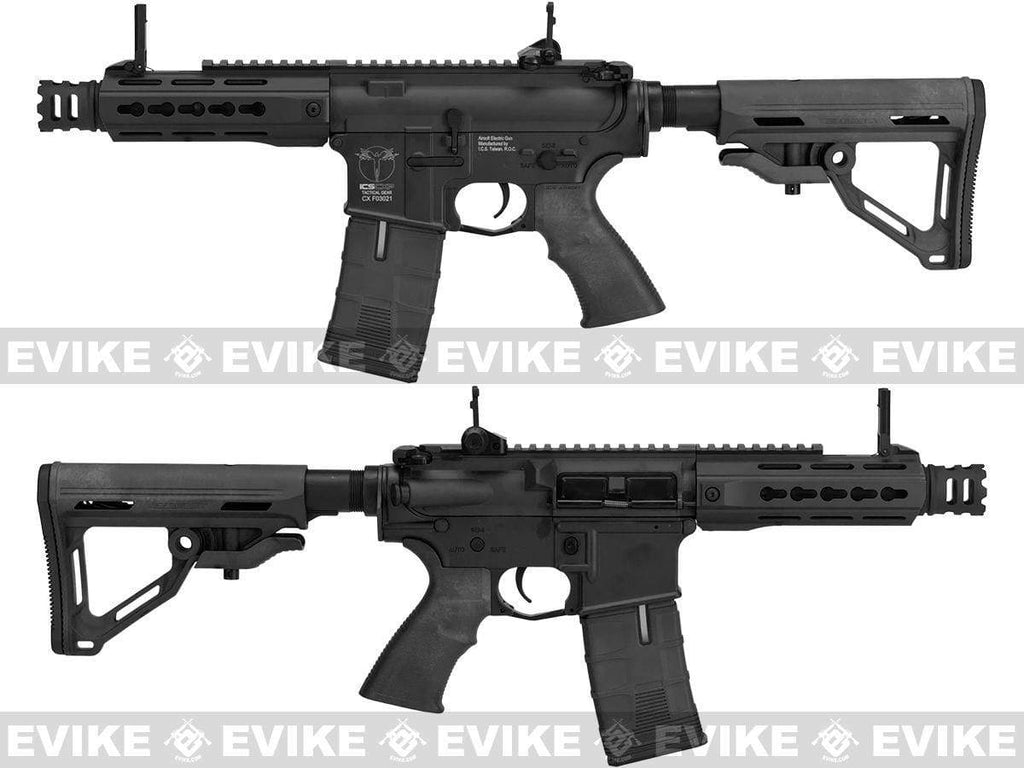 "ICS CXP-UK1 ""Captain"" MTR M4 Airsoft AEG with Full Metal Receiver with MOSFET (Color: Black) - Eminent Paintball And Airsoft"