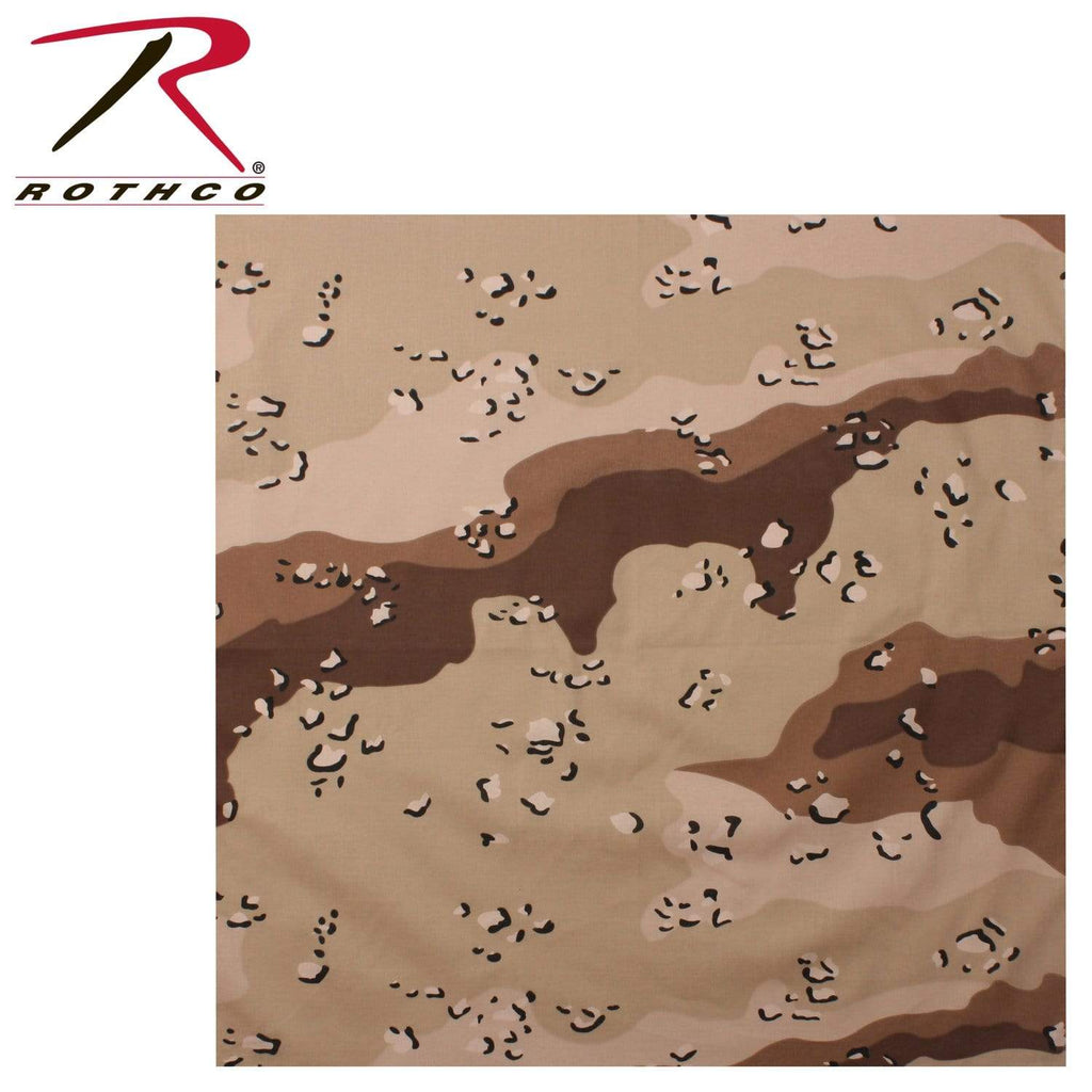 Rothco Classic Camo Bandana - 6-Color Desert Camo - Eminent Paintball And Airsoft