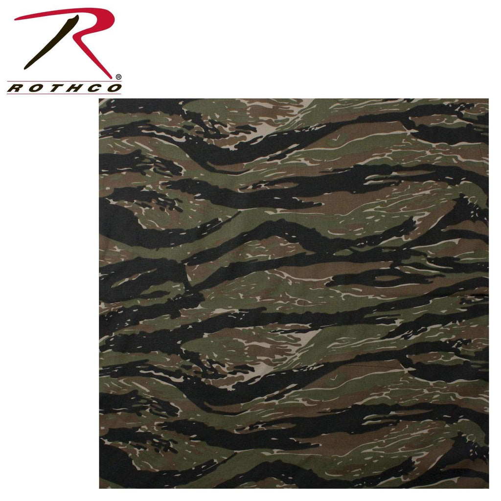 Rothco Classic Camo Bandana - Tiger Stripe - Eminent Paintball And Airsoft