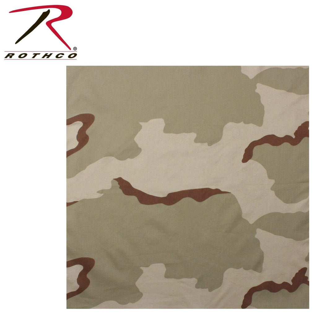 Rothco Classic Camo Bandana - Tri-Color Desert - Eminent Paintball And Airsoft