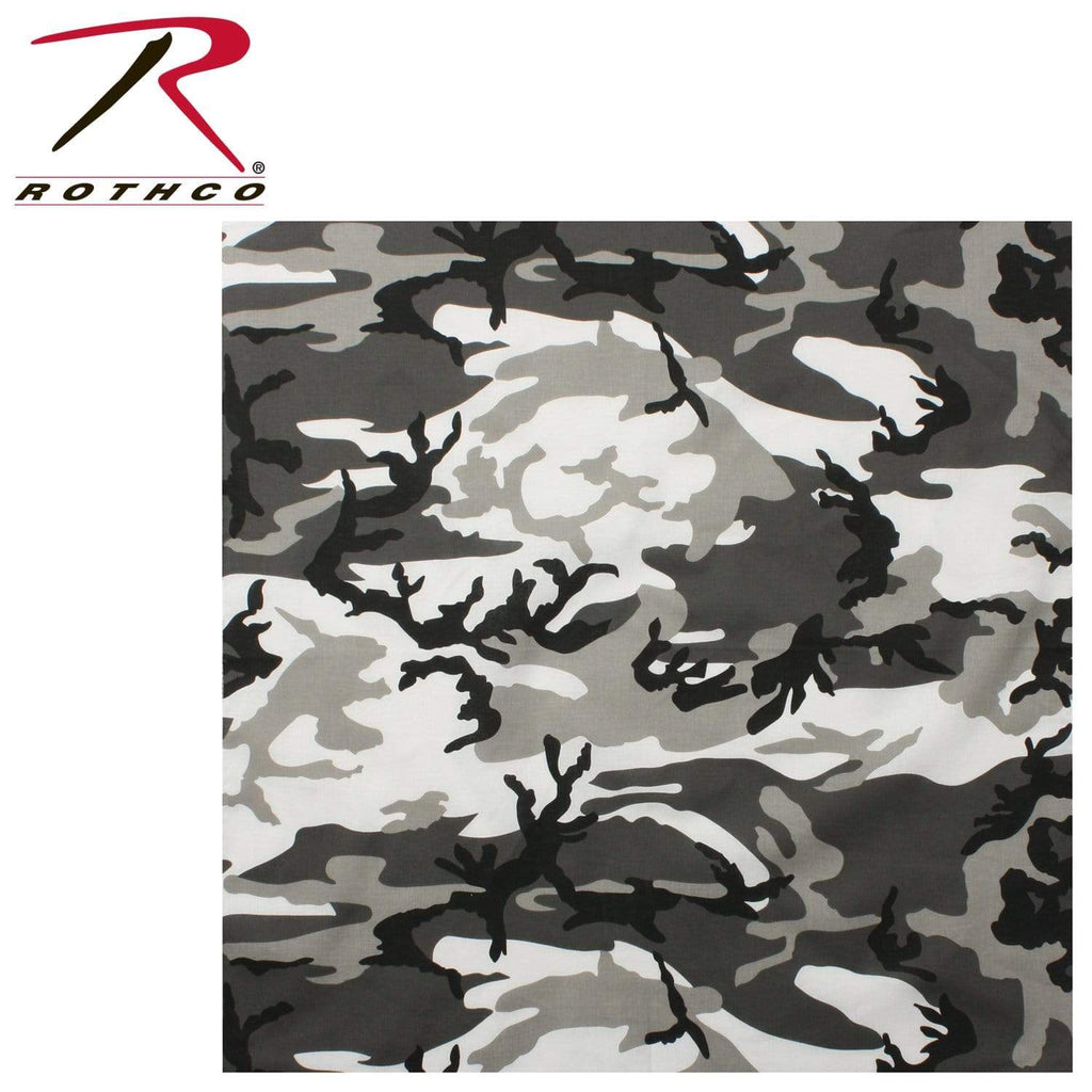 Rothco Colored Camo Bandana - City Camo - Eminent Paintball And Airsoft