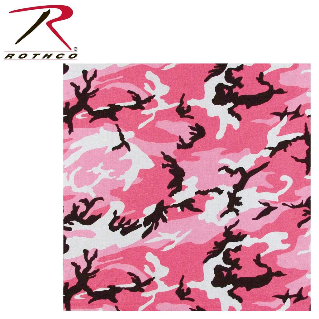 Rothco Colored Camo Bandana - Pink Camo - Eminent Paintball And Airsoft