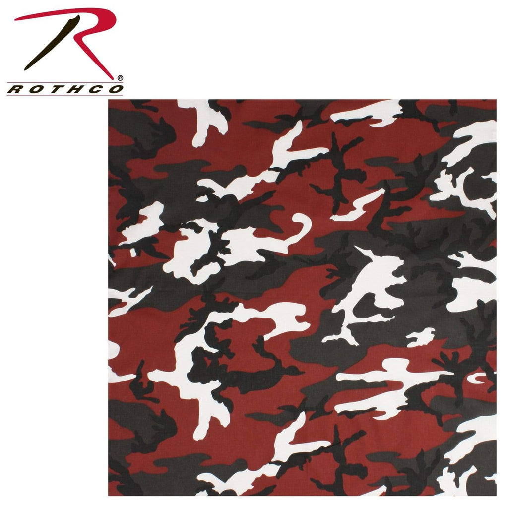 Rothco Colored Camo Bandana - Red Camo - Eminent Paintball And Airsoft
