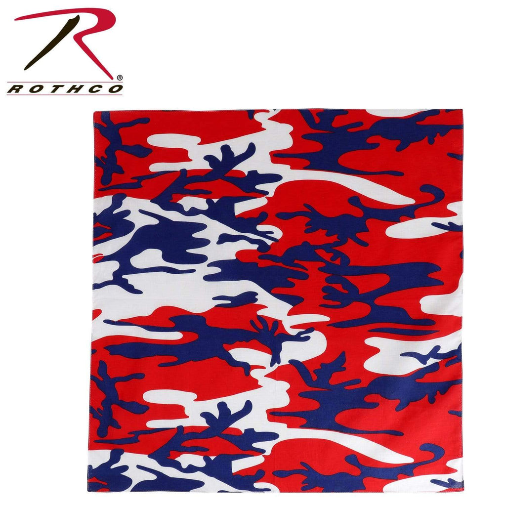 Rothco Colored Camo Bandana - Red/White/Blue - Eminent Paintball And Airsoft