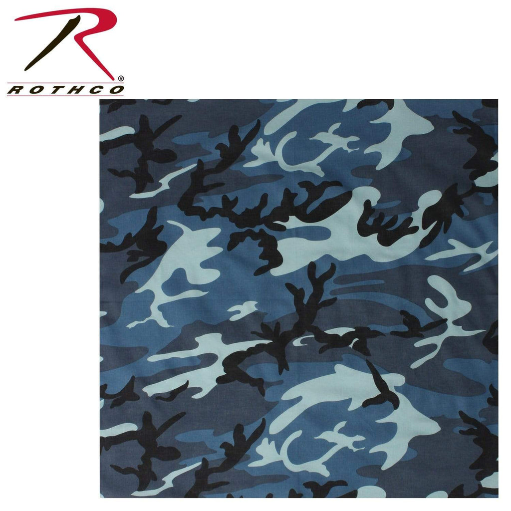 Rothco Colored Camo Bandana - Sky Blue Camo - Eminent Paintball And Airsoft