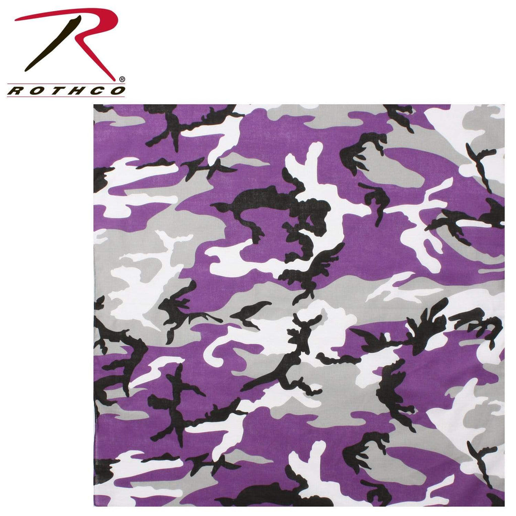 Rothco Colored Camo Bandana - Ultra Violet Camo - Eminent Paintball And Airsoft