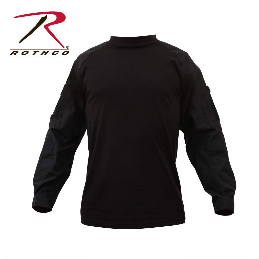 Rothco Military Combat Shirt- Black - Eminent Paintball And Airsoft