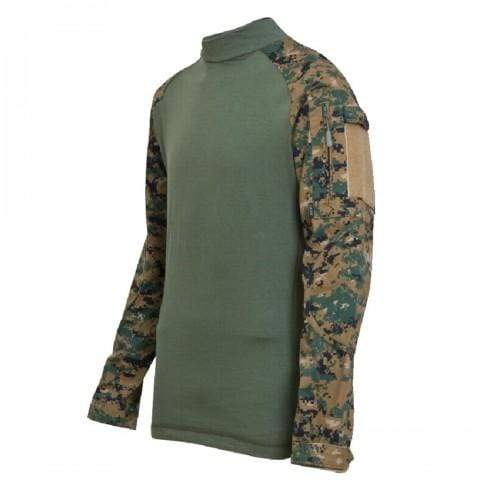 Rothco Military Combat Shirt -  Digi Woodland Camo - Eminent Paintball And Airsoft