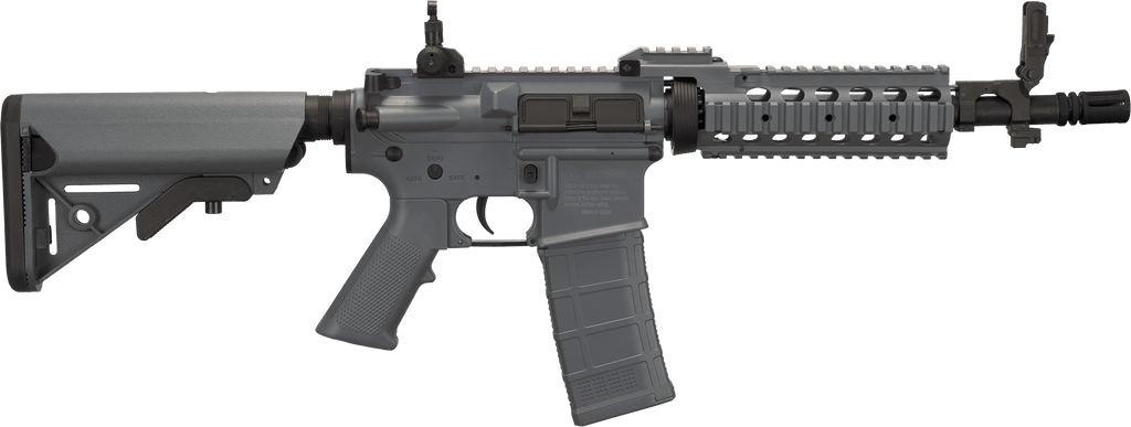 Tippmann Basic Training Full Size M4 Airsoft AEG with RIS Handguard (Length: CQB / Grey) - Eminent Paintball And Airsoft