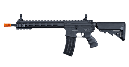 Tippmann Recon AEG Carbine 14.5 in. Barrel M-Lok Shroud - BLK (US Orange TIP) - Eminent Paintball And Airsoft