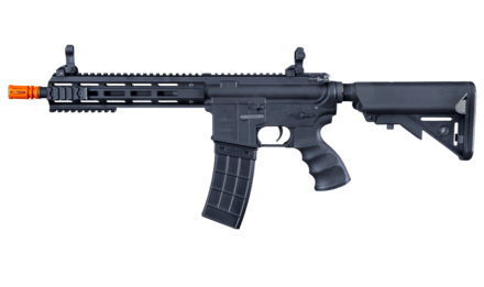 Tippmann Recon AEG CQB 9.5 in. Barrel M-Lok Shroud - BLK (US Orange TIP) - Eminent Paintball And Airsoft