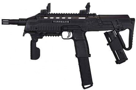 TIPPMANN TACTICAL COMPACT RIFLE (TCR) PAINTBALL GUN - BLACK - Eminent Paintball And Airsoft