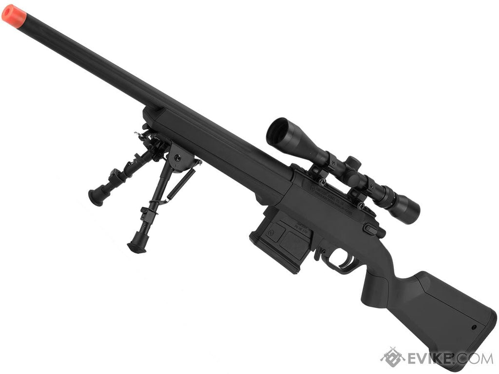 "AMOEBA ""Striker"" S1 Gen2 Bolt Action Sniper Rifle (Color: Black) - Eminent Paintball And Airsoft"