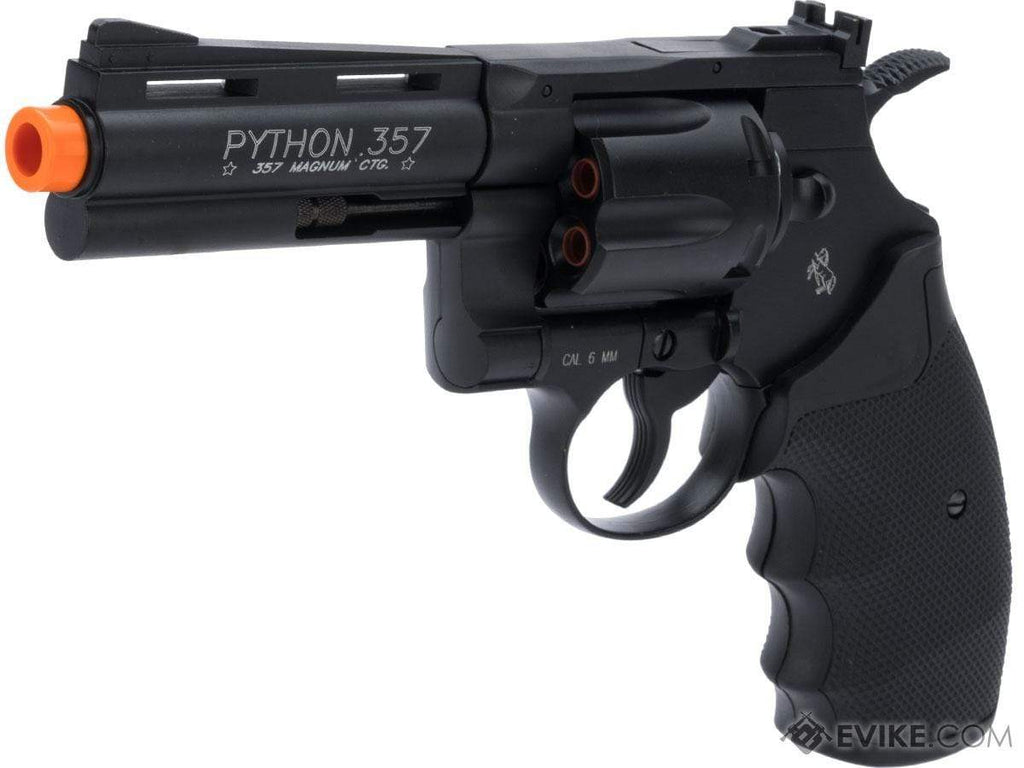 "Cybergun Colt Licensed Python .357 Magnum Airsoft CO2 Revolver (Length: 4"") - Eminent Paintball And Airsoft"