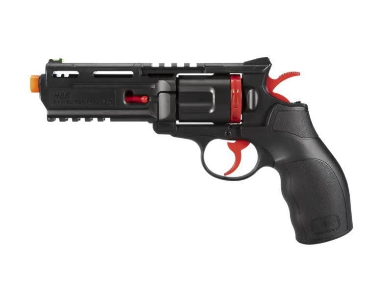 Elite Force H8R CO2 Powered Airsoft Revolver - Black/Red - Eminent Paintball And Airsoft