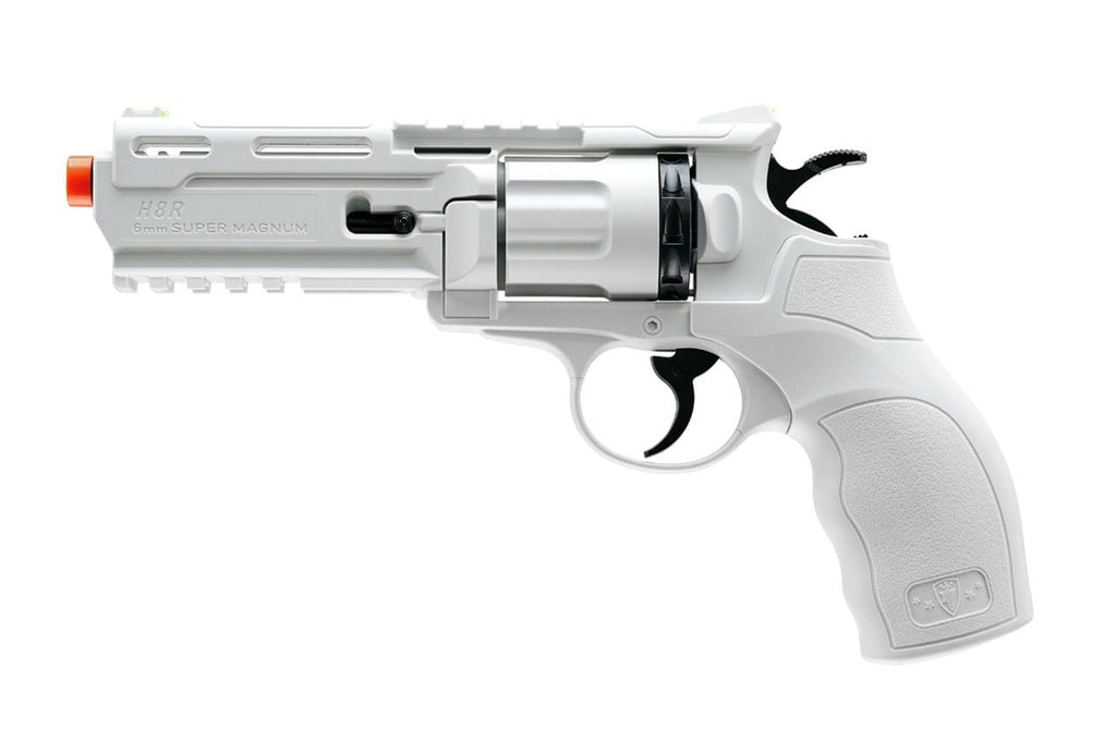 Elite Force H8R CO2 Powered Airsoft Revolver - White/Black - Eminent Paintball And Airsoft