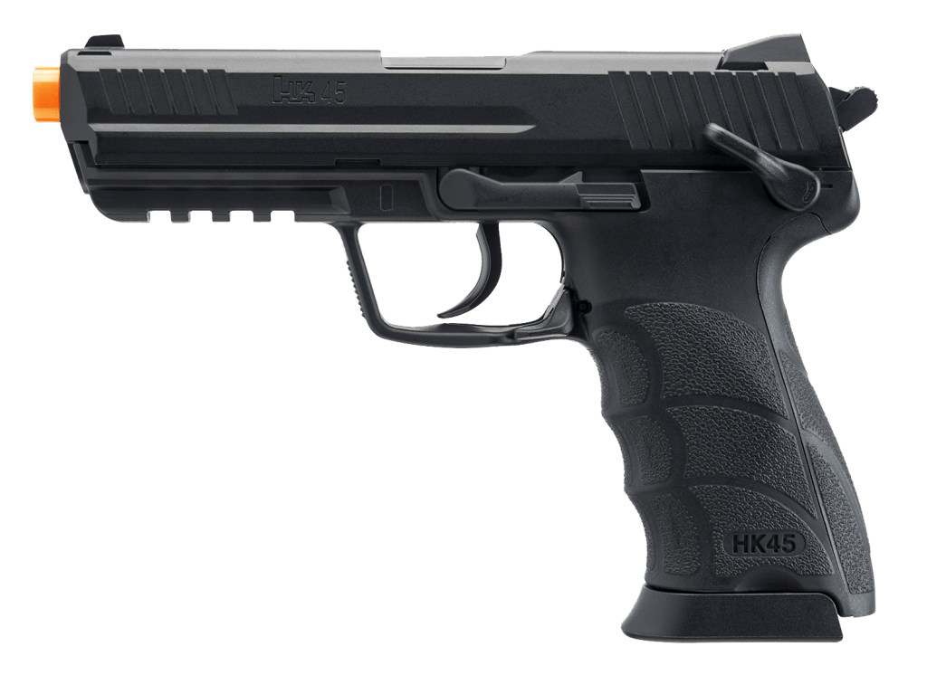 Umarex H&K Licensed HK45 Full Size CO2 Gas Non-Blowback Airsoft Pistol - Black - Eminent Paintball And Airsoft
