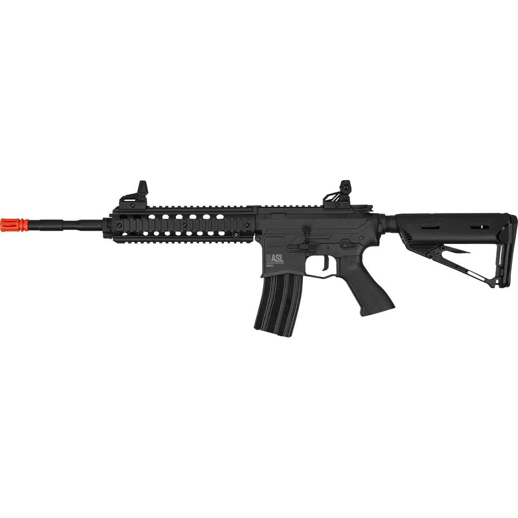 Valken ASL Series M4 Airsoft Hi-Velocity Rifle AEG 6mm Rifle - MOD-L - Black - Eminent Paintball And Airsoft