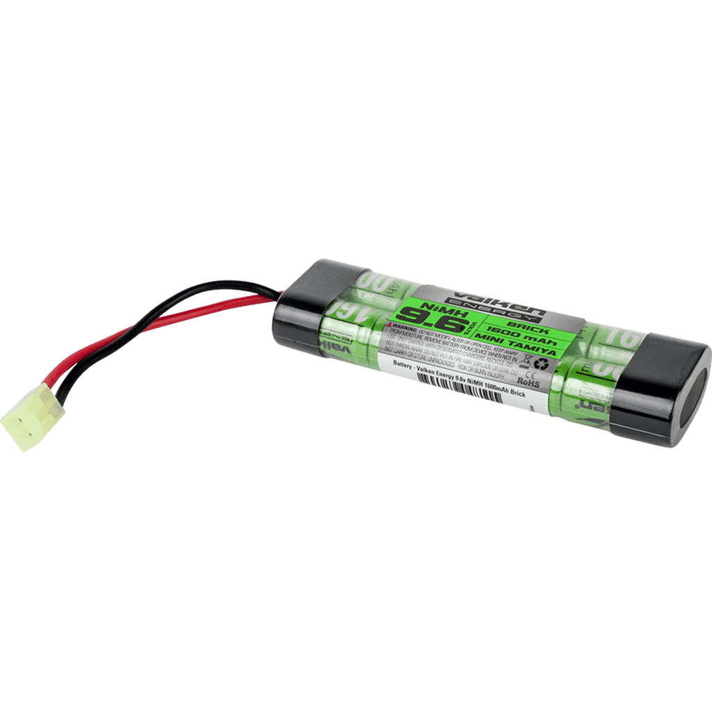 Valken Airsoft Battery - NiMH 9.6v 1600mAh Mini Brick Style - Eminent Paintball And Airsoft