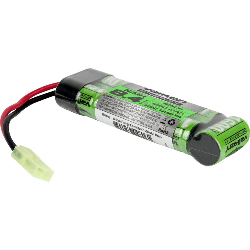 Valken Battery - NiMH 8.4v 1600mAh Mini Brick Style - Eminent Paintball And Airsoft