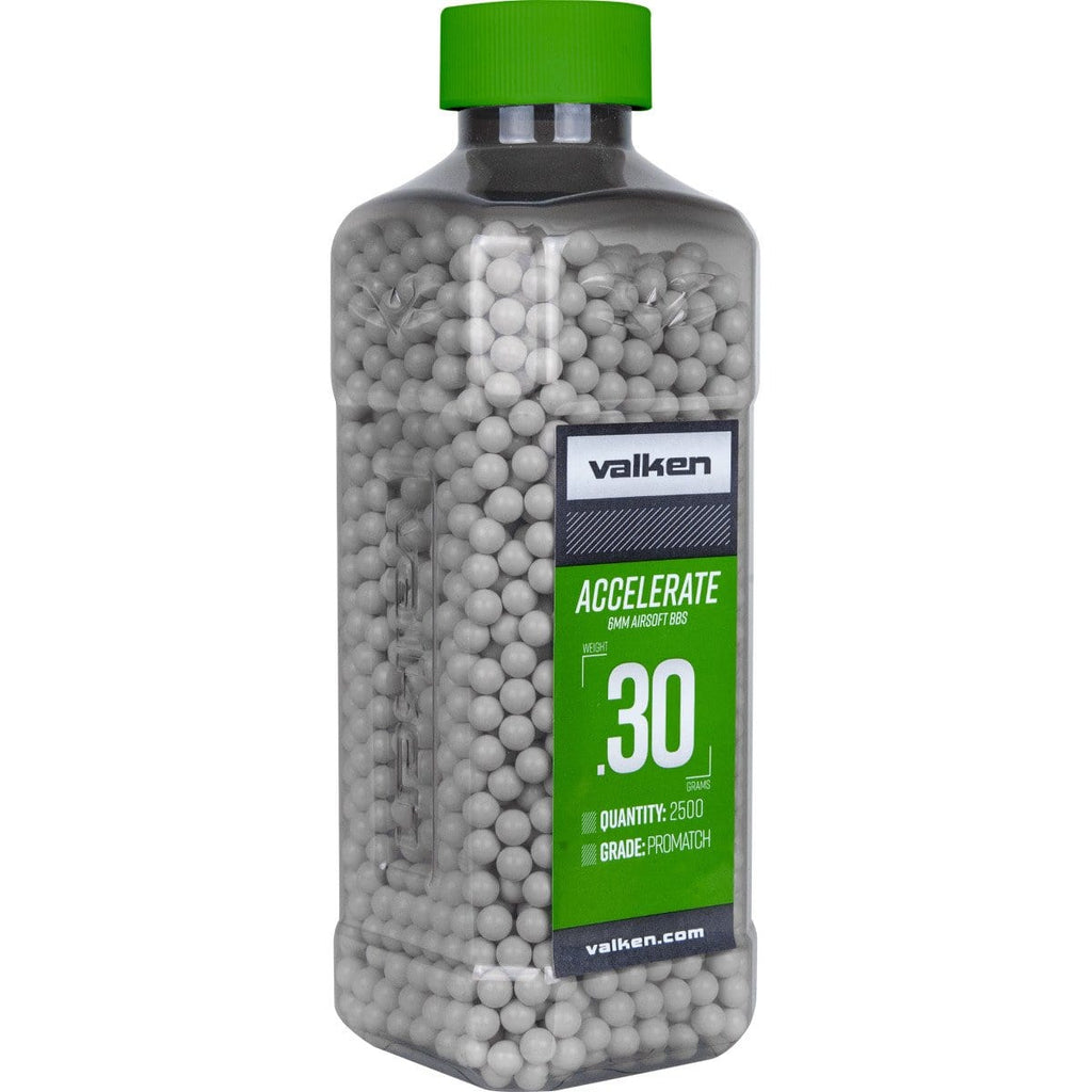 Valken Accelerate Airsoft BBs - 0.30G-2500CT-White - Eminent Paintball And Airsoft