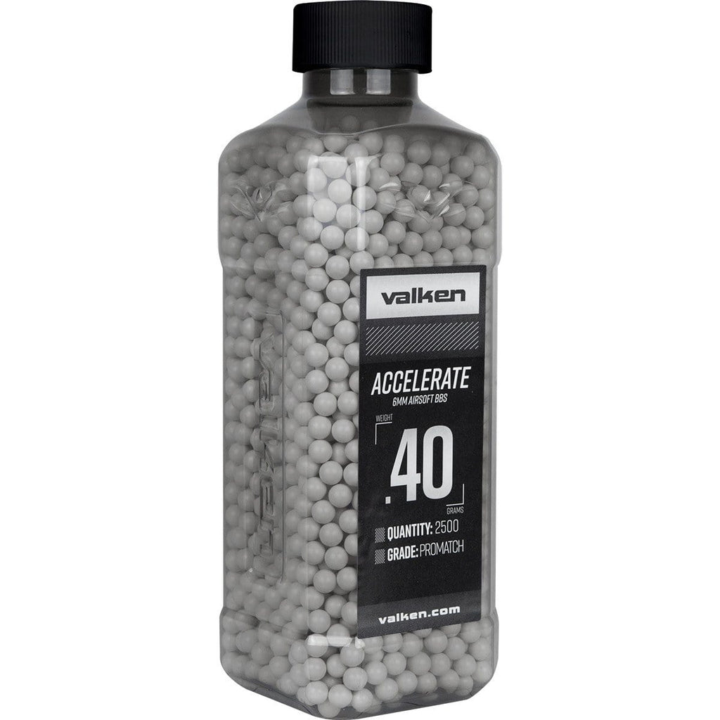 Valken Accelerate Airsoft BBs - 0.40G 2500CT-White - Eminent Paintball And Airsoft