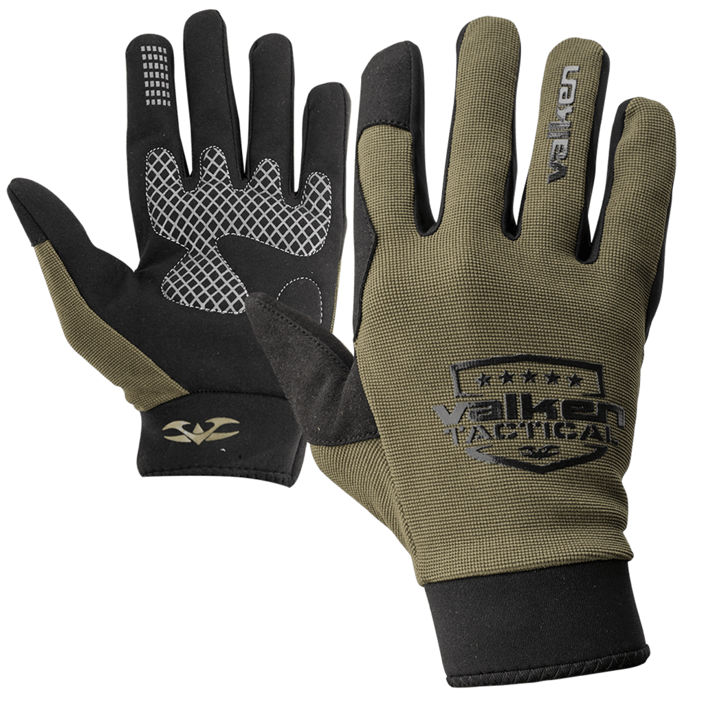 Valken Sierra II Gloves - Olive - Eminent Paintball And Airsoft