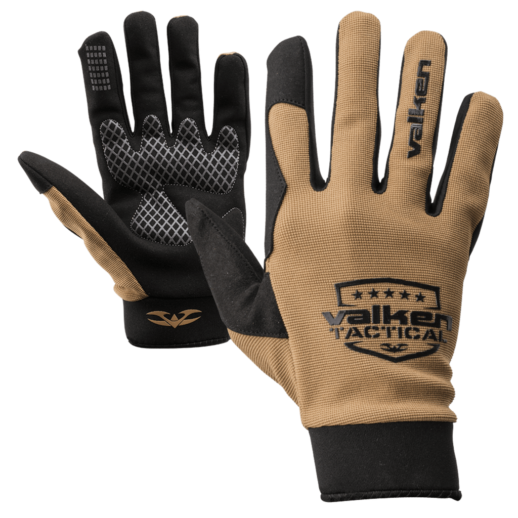 Valken Sierra II Gloves - Tan - Eminent Paintball And Airsoft