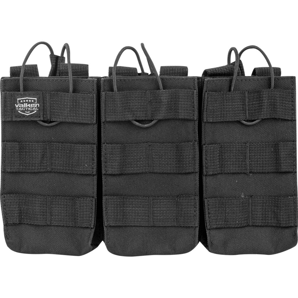 Valken Vest Black V Tactical Magazine Pouch AR Triple