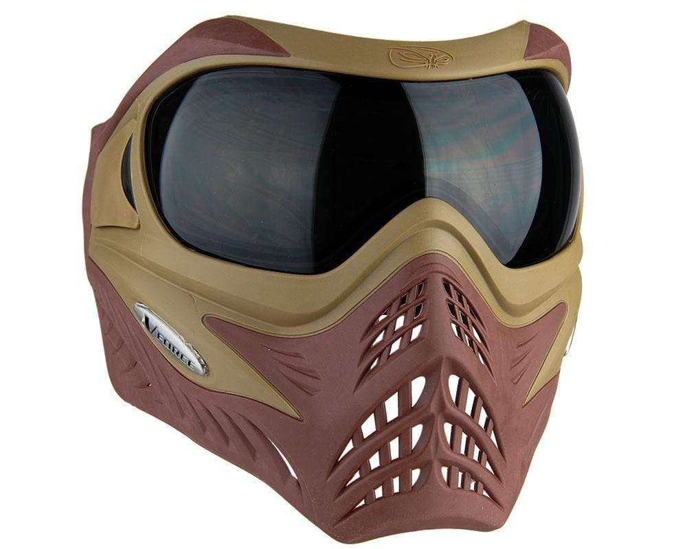 VForce Grill Mask Falcon - Tan on Brown - Eminent Paintball And Airsoft