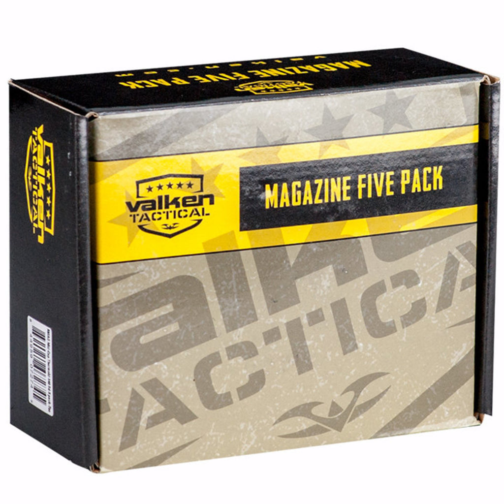 Valken 140rd Thermold Mid-Cap Airsoft Magazines - 5 Pack - Eminent Paintball And Airsoft