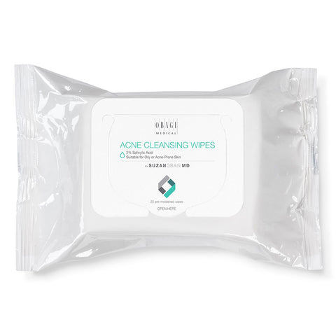 Suzan Obagi On the Go Cleansing Wipes for Oily or Acne Prone Skin 25s