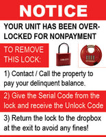 Sign Overlock - No Customer Portal - Red Lock - 5 Pack
