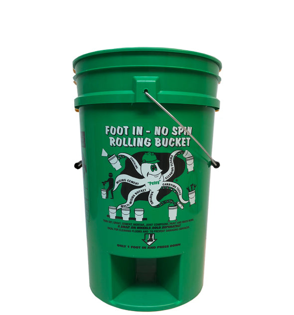 Foot In-No Spin Rolling Bucket™