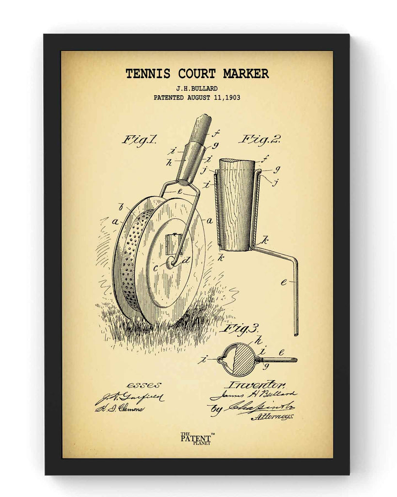 Tennis Court Marker | Framed