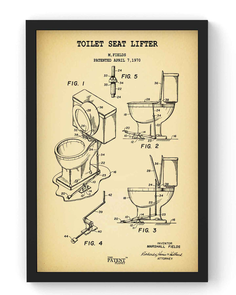 Toilet Seat Lifter | Framed